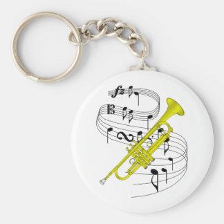 Trumpet Key Ring
