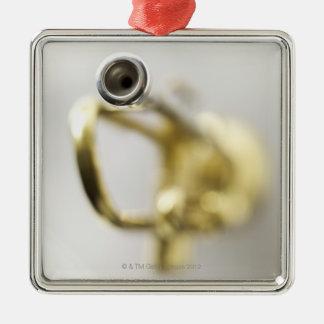 Trumpet Mouth Piece Silver-Colored Square Decoration