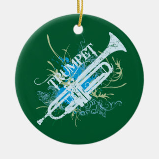Trumpet Music Grunge Ornament