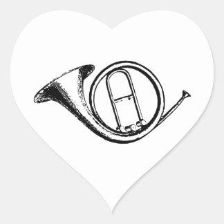 Trumpet & Music Love Heart Sticker
