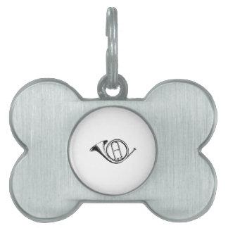 Trumpet & Music Love Pet ID Tag