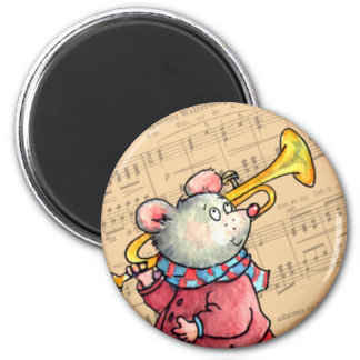 Trumpet Music Mouse - Magnet