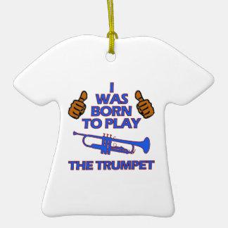 trumpet Musical designs Ceramic T-Shirt Ornament