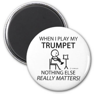 Trumpet Nothing Else Matters 6 Cm Round Magnet