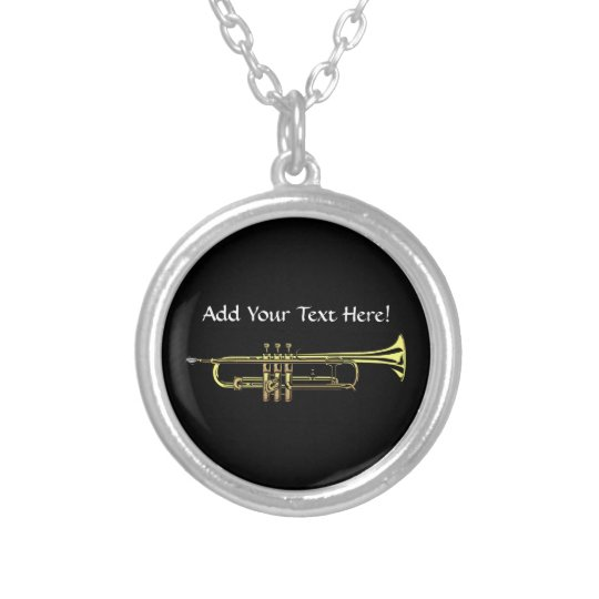 Trumpet Personalised Music Necklace