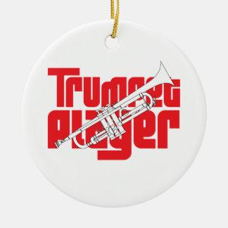 Trumpet Player Christmas Ornament