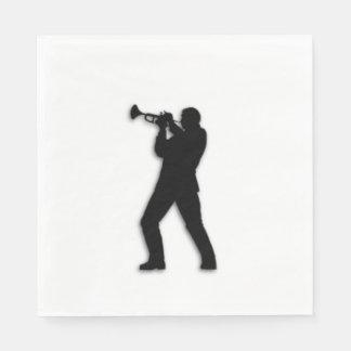 Trumpet Player Disposable Serviette