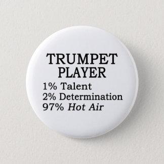 Trumpet Player Hot Air 6 Cm Round Badge
