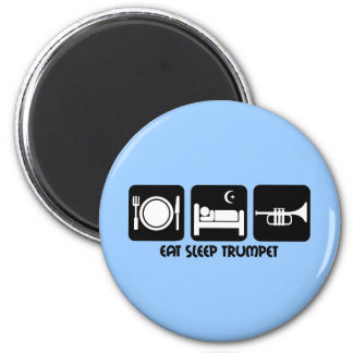 trumpet player magnet