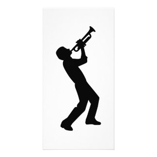 Trumpet player photo cards