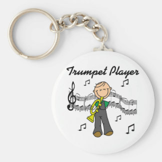 Trumpet Player T-shirts and Gifts Basic Round Button Key Ring