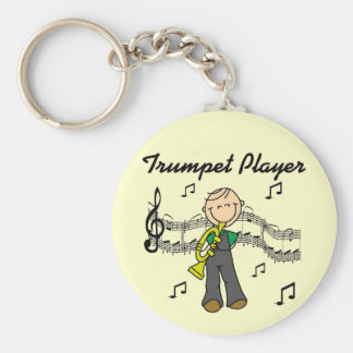 Trumpet Player T-shirts and Gifts Key Chains