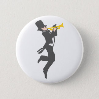 Trumpet player trumpet more player 6 cm round badge