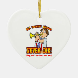 Trumpet Players Ceramic Heart Decoration