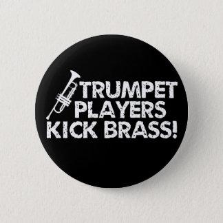 Trumpet Players Kick Brass! 6 Cm Round Badge