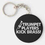 Trumpet Players Kick Brass! Basic Round Button Key Ring
