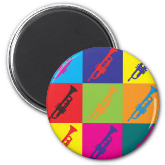 Trumpet Pop Art Fridge Magnets