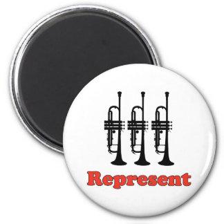 Trumpet Represent Refrigerator Magnet