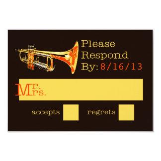 Trumpet Response Card 9 Cm X 13 Cm Invitation Card