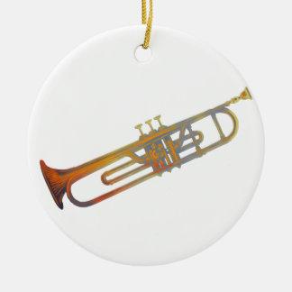 Trumpet Round Ceramic Decoration