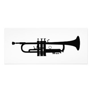 trumpet silhouette custom invites