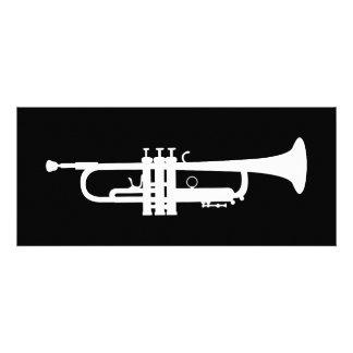 trumpet silhouette personalized invitations
