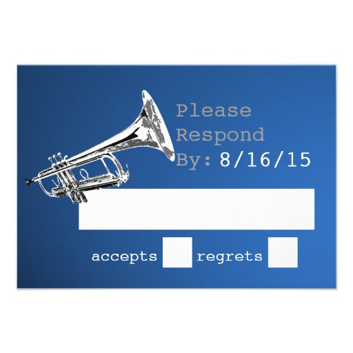 Trumpet Silver and Blue Response Custom Announcement