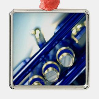 Trumpet Silver-Colored Square Decoration