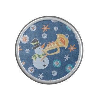 Trumpet Snowman Making Christmas Holiday Music Bluetooth Speaker