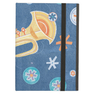 Trumpet Snowman Making Christmas Holiday Music iPad Air Cases
