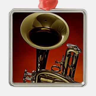Trumpet square Ornament