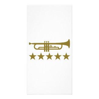 Trumpet stars photo card