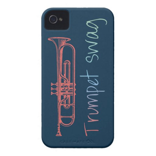 Trumpet Swag Marching Band iPhone 4 Case-Mate Case