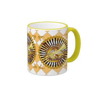 Trumpet Swirls Ringer Mug