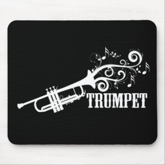 Trumpet Vector with swirls Mouse Pad