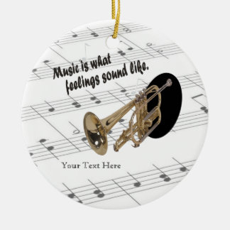 Trumpet Version #2 - What Feelings Sound Like Christmas Ornament