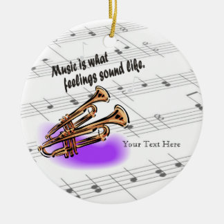 Trumpet Version - What Feelings Sound Like Round Ceramic Decoration