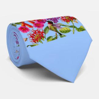 trumpet vine, butterfly bush, hummingbird tie