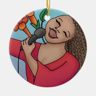 Trumpet Vine Singer Ornament