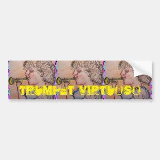 trumpet virtuoso bumper sticker