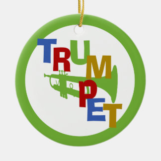 TRUMPET with Photo Frame Christmas Ornament