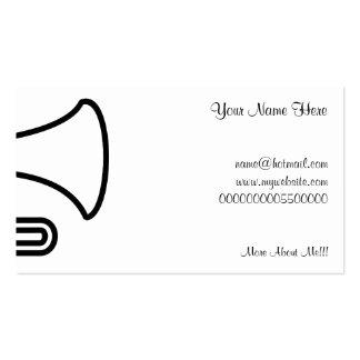 Trumpet, Your Name Here, Pack Of Standard Business Cards