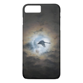 Trumpeter Swan Flying under a Full Winter Moon iPhone 8 Plus/7 Plus Case