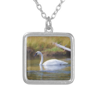 Trumpeter Swan Silver Plated Necklace