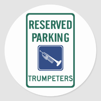 Trumpeters Parking Classic Round Sticker