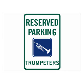 Trumpeters Parking Postcard