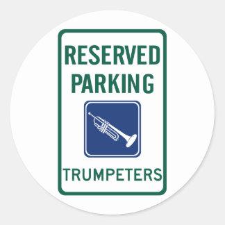 Trumpeters Parking Round Sticker