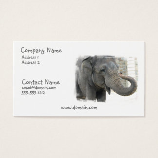 Trumpeting Elephant Business Card