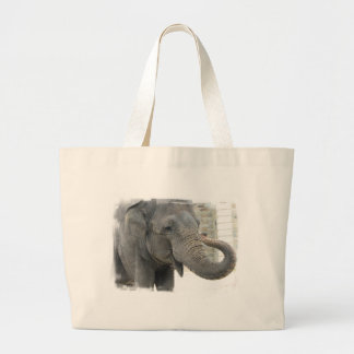 Trumpeting Elephant Canvas Bag