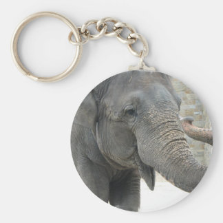 Trumpeting Elephant Keychain